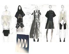 Fashion Sketchbook - fashion design collection development; fashion drawings; fashion portfolio // Nicole Jimenez