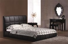 Amelie Queen Bed in Black  - Homeclick Community