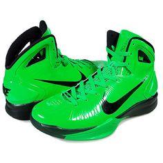 Nike Hyperdunk 2010 Mens Highlighte Green via Polyvore