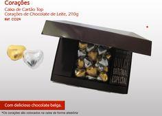 Corações de Chocolate para o seu Amor! Não perca tempo e surpreenda!