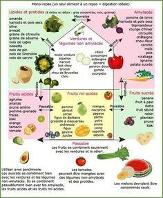Les dix règles de base des combinaisons alimentaires et des repas Consommez les aliments et les boissons à température ambiante. Les températures froides et chaudes altèrent l'activité...