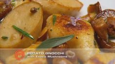 Potato Gnocchi with Exotic Mushrooms, Rosemary and Tarragon. From Master Class, Master Chef Australia. Master Chef, Kitchen Recipes, Cooking Recipes, Masterchef Recipes, Masterchef Australia, Cooking For One, Gnocchi, Yummy Treats, Delish