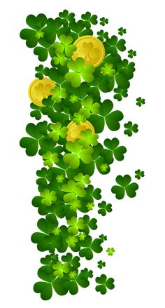 St Patricks Shamrock with Coins PNG Clipart