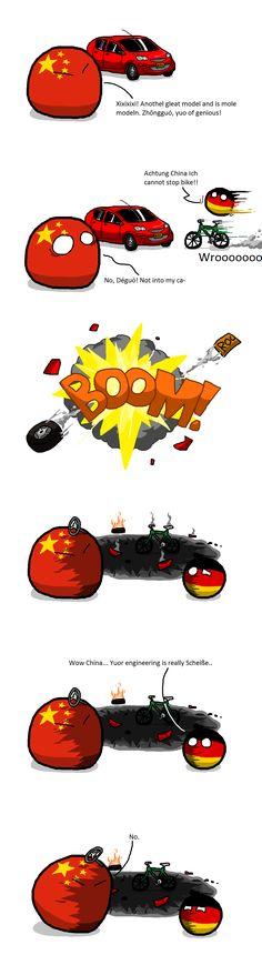 China's Engineering Quality (China, Germany) by  Kaliningrad General #polandball #countryball