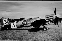 Spitfire F.22, 1948. The large numerals are for an air race.