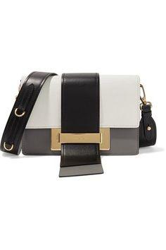 Prada - Metal Ribbon color-block leather shoulder bag 58d73660c902a