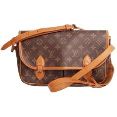 50f3199ab45b Pre-owned Louis Vuitton Sac Gibeciere Mm 2537 Brown Cross Body Bag ( 585) ❤  liked on Polyvore featuring bags