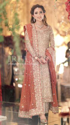 Sharara Pakistani Wedding Dresses For Sisters - Best Tattoo Ideas Nikkah Dress, Shadi Dresses, Pakistani Formal Dresses, Pakistani Wedding Outfits, Indian Bridal Outfits, Indian Bridal Lehenga, Pakistani Wedding Dresses, Pakistani Dress Design, Indian Designer Outfits