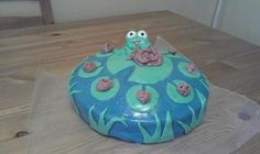 Fondant Frog Birthday Cake  not my best work.....