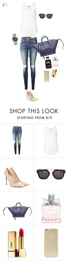 """Sundays"" by maries on Polyvore featuring rag & bone, ATM by Anthony Thomas Melillo, Gianvito Rossi, CÉLINE, Christian Dior, Yves Saint Laurent, Sonix and MICHAEL Michael Kors"