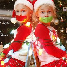 I did this silent night at big Papa and Nana roro's house with Mya and Chad this morning in front of our fireplace it was adorable I'm going to be putting them in Christmas card