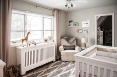 Gender Neutral Safari Nursery - love the soothing colors and design!