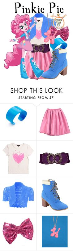 """""""Pinkie Pie (My Little Pony: Equestria Girls)"""" by fabfandoms ❤ liked on Polyvore featuring Lisa August, Imoga, WearAll, Reneeze, My Little Pony and Venessa Arizaga"""