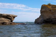 Broken Rocks - Port Austin, Michigan - Port Austin Lighthouse in the background - by Craig - S, via Flickr