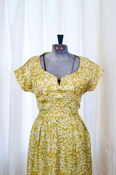 1960's Dress // Mollie Parnis Designer Gold Silk Wiggle Dress
