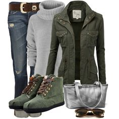 OUTFIT Green Toms Highlands Fleece Botas Women's Shoes   #tomsshoesdiscount