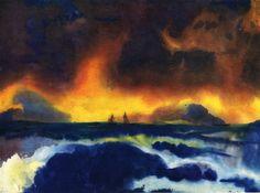 Emil Nolde, Stormy Sea on ArtStack #emil-nolde #art