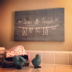 Clean & Fresh  Laundry Room Art  $20 Find and like us on Facebook - Broken Bird Creations