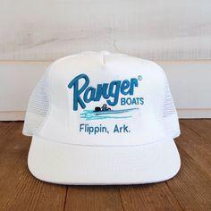 4af24d10a0c59 Vintage Ranger Boats Snapback Hat Flippin Arkansas Mesh Trucker Cap Fishing  90s  Cabot  TruckerBaseballCap