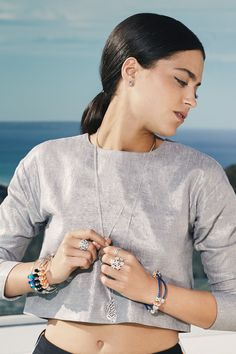 Stand out with colorful PANDORA jewelry. Click the image for more style inspiration. #PANDORAmagazine