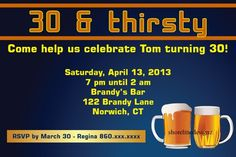 Custom beer theme party invitation for any occasion I design you print   ShorelineDesignz - Digital Art  on ArtFire