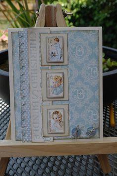 Scrapping twins: baby-kaarten van Graphic 45 dessinpaper