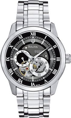 Bulova Watch Open Aperture Automatic #bezel-fixed #bracelet-strap-steel #brand-bulova #bulova-core-line #case-depth-11-2mm #case-material-steel #case-width-42mm #classic #delivery-timescale-4-7-days #dial-colour-black #gender-mens #movement-automatic #nozama #official-stockist-for-bulova-watches #packaging-bulova-watch-packaging #style-dress #subcat-mechanical #supplier-model-no-96a119 #warranty-bulova-official-3-year-guarantee #water-resistant-30m