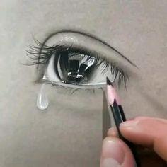 Art Drawings Beautiful, Art Drawings Sketches Simple, Pencil Art Drawings, Realistic Drawings, Graphite Drawings, Pencil Drawings For Beginners, Eye Drawing Tutorials, Art Tutorials, 3d Art Drawing
