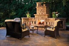 Image result for backyard fireplace