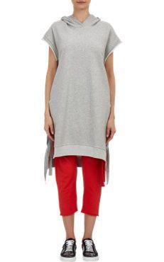 Self-Tie Sweatshirt Dress