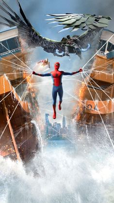 Top Spiderman Wallpapers - Homecoming, Into the Spider-Verse - Update Freak Marvel Memes, Marvel Dc Comics, Marvel Avengers, Avengers Wallpaper, Man Wallpaper, Spiderman Art, Amazing Spiderman, Tom Holland, Movie Wallpapers