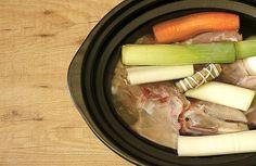 Receta de caldo de pollo en Crock Pot u olla lenta
