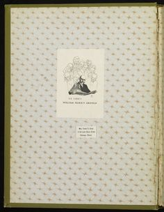 Pastedown Endpaper from A Connecticut Yankee in King Arthur's court · Twain, Mark, 1835-1910 · 1889 · Albert and Shirley Small Special Collections Library, University of Virginia.