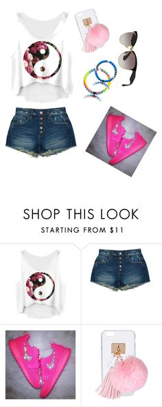"""untitled 🐲"" by torie-richards ❤ liked on Polyvore featuring BLANKNYC, Ashlyn'd and Miu Miu"