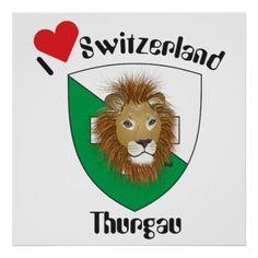 Thurgau Schweiz Switzerland Poster