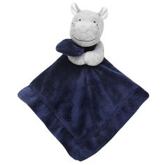 NWT Carter's Hippo Rattle Navy Blue Security Blanket Baby Lovey Grey Navy Blue for sale online Carters Baby Boys, Baby Kids, Baby Boy Shower, Baby Shower Gifts, Rhino Art, Crochet Lovey, Baby Boy Blankets, Security Blanket, Hippopotamus