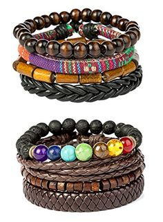 REVOLIA 5-8Pcs Braided Leather Bracelets for Men Women Cuff Wrap Wristbands (G: F: 8 Pcs Set) - Choose Your Jewelry From REVOLIA Jewelry REVOLIA Jewelry Specialize in Fashion Jewelry, Focus on Quality Products, Pay Great Attention to Customer Service. REVOLIA 6Pcs Braided Leather Bracelets for Men Women Cuff Wrap Wristbands 6 pcs in 6 styles braided leather bracelets, affordable set, more c...