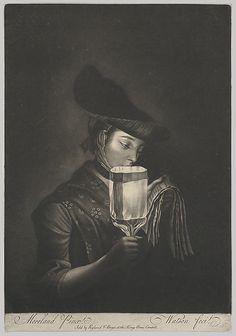 A Girl Singing Ballads by a Paper Lantern, between 1767~1782 Thomas Watson.