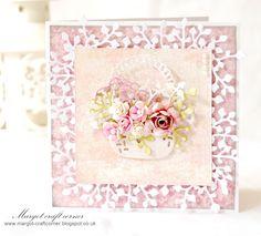 Margot - craft corner basket of flowers card - really pretty