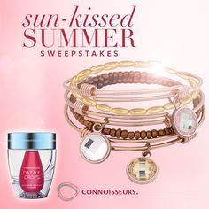 sun-kissed SUMMER Sweepstakes - Dazzle Drops Advanced & Bangles - Jewelry - Enter Here:… http://woobox.com/ezj82n/ho49s3