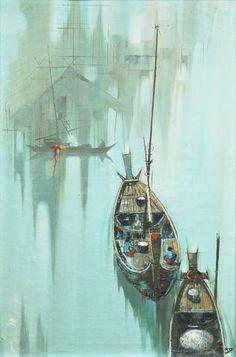 Kid Kosolawat (Thai, 1917-1988), circa 1965 On the canal