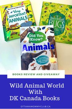 From the tiniest little crawly creatures to the wildest of animals in the jungle, learn about the wild animal world with DK Canada Books. #giveaway #books #dkcanada #kids Wild Animal World, Duck Float, Animals Amazing, Reptiles And Amphibians, Animals Images, Ottawa, Giveaways, Fun Facts, Creatures