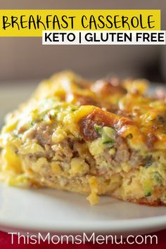 This Low Carb Breakfast Casserole is a great savory addition to your breakfast lineup. It can be made ahead of time for busy mornings and is completely picky eater approved! Lets try this keto breakfast recipes. Low Carb Breakfast Casserole, Sausage Breakfast, Breakfast Recipes, No Carb Breakfast, Breakfast Gravy, Dinner Recipes, Ketogenic Breakfast, Breakfast Cereal, Low Card Breakfast Ideas
