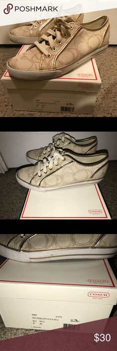 Dee Penelope coach sneakers Size 8 but they run small would fit better on a 7.5 person Coach Shoes Sneakers