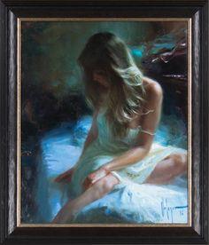 """Vladimir Volegov - """"Cloudy Morning"""" finns att köpa hos oss på Galleri Melefors / is available for purchase at Galleri Melefors #vladimirvolegov #volegov #vladimir #fine #art #painting #oil #oilpainting #russian #artist #interiordesign #design #decoration #home #beautiful #girl #woman #masteroflight #light #morning #forsale #buy #konst #tavla #målning #oljemålning #olja #flicka #kvinna #vacker #mästareavljus #ljus #morgon #tillsalu #köp #gallerimelefors #melefors"""