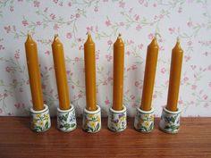 Six Vintage Funny Leuchter Design Candle Holders von TeaCupCakeNL