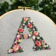 """8,414 Likes, 72 Comments - CREAMENTE • embroidery • (@defnegunturkun) on Instagram: """"You may be bored of seeing letters in my posts but I have to keep up with the orders. Soon there…"""""""