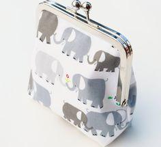 Elephant Coin Purse Handmade Wallet Organic by BrooklynLoveDesigns, $35.00