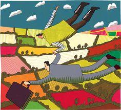 #paulboston #meiklejohn #illustration #digital #stylised  #character #landscape #flying