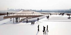 Bjarke Ingels (BIG) imagine un magnifique promontoire dans le parc Brooklyn Bridge à NYC